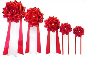 リボンバラ花徽章